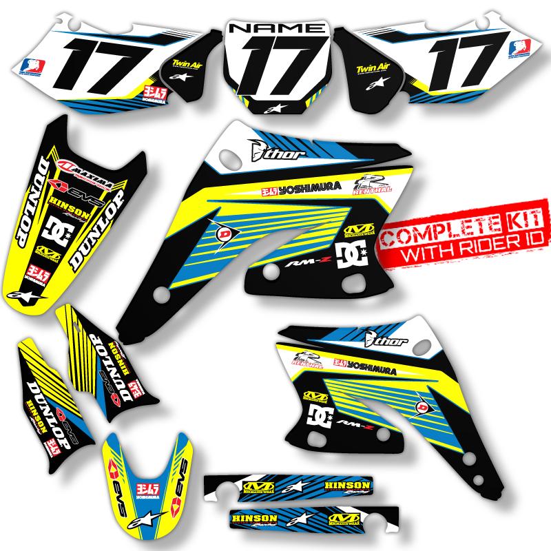 SUZUKI DRZ  MOTOCROSS GRAPHICS DIRT BIKE MX DECALS EBay - Decal graphics for dirt bikes